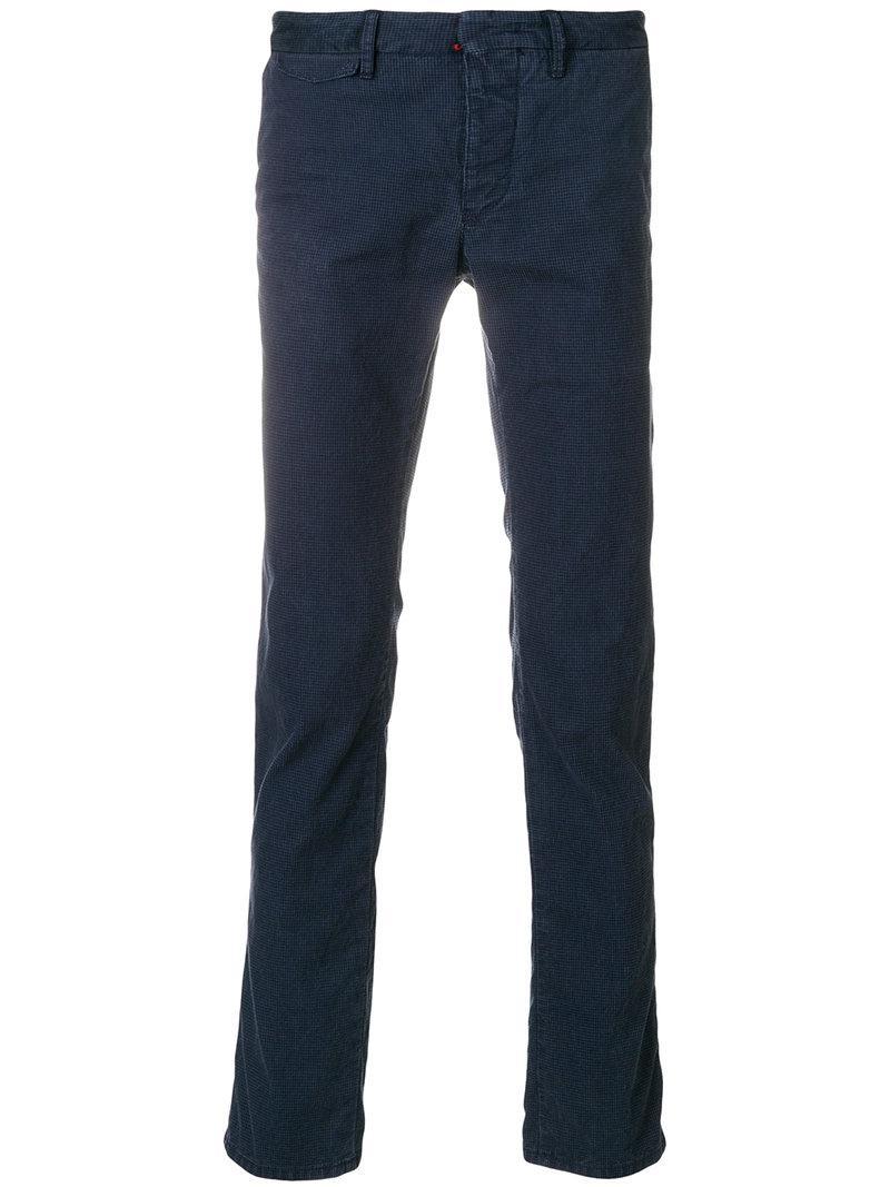 straight-leg trousers - Blue Incotex Original Online RA5WhavJl