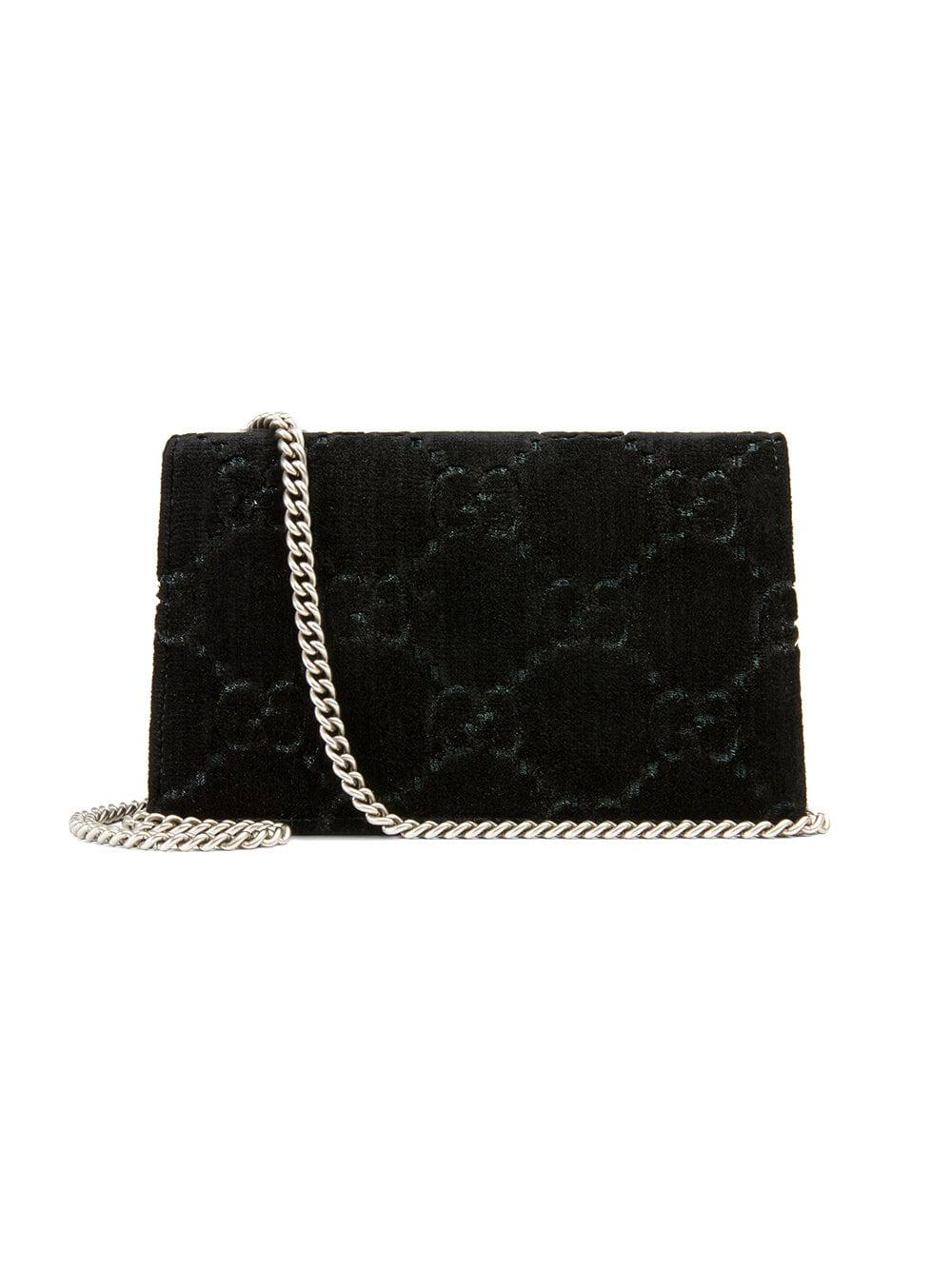 d7c6cee06c9 Gucci Black Dionysus Super Mini Leather Bag in Black - Save 1% - Lyst