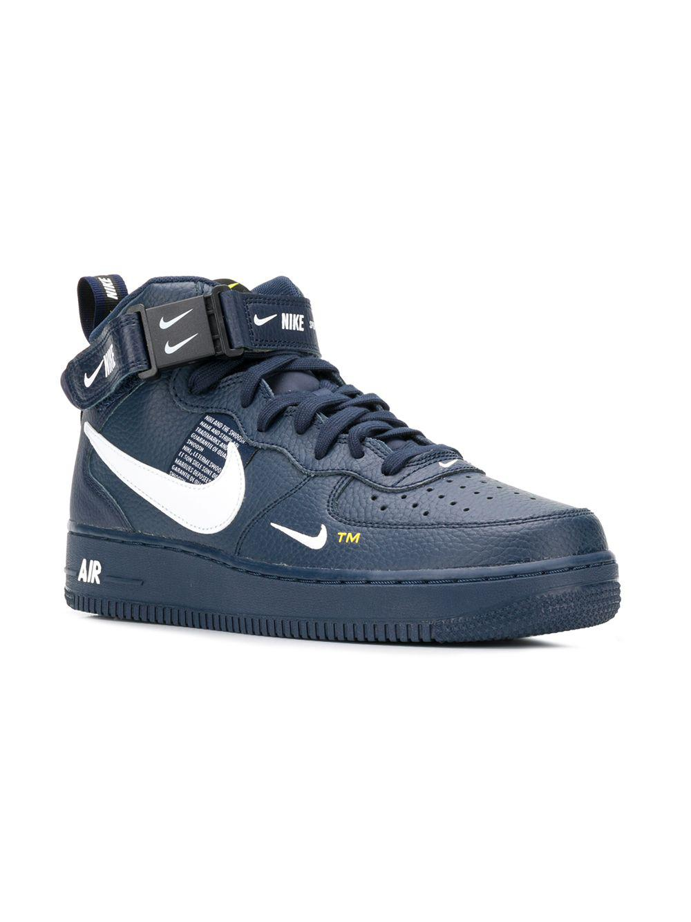 e8a03776998912 Nike - Blue Air Force 1 Mid Sneakers for Men - Lyst. View fullscreen