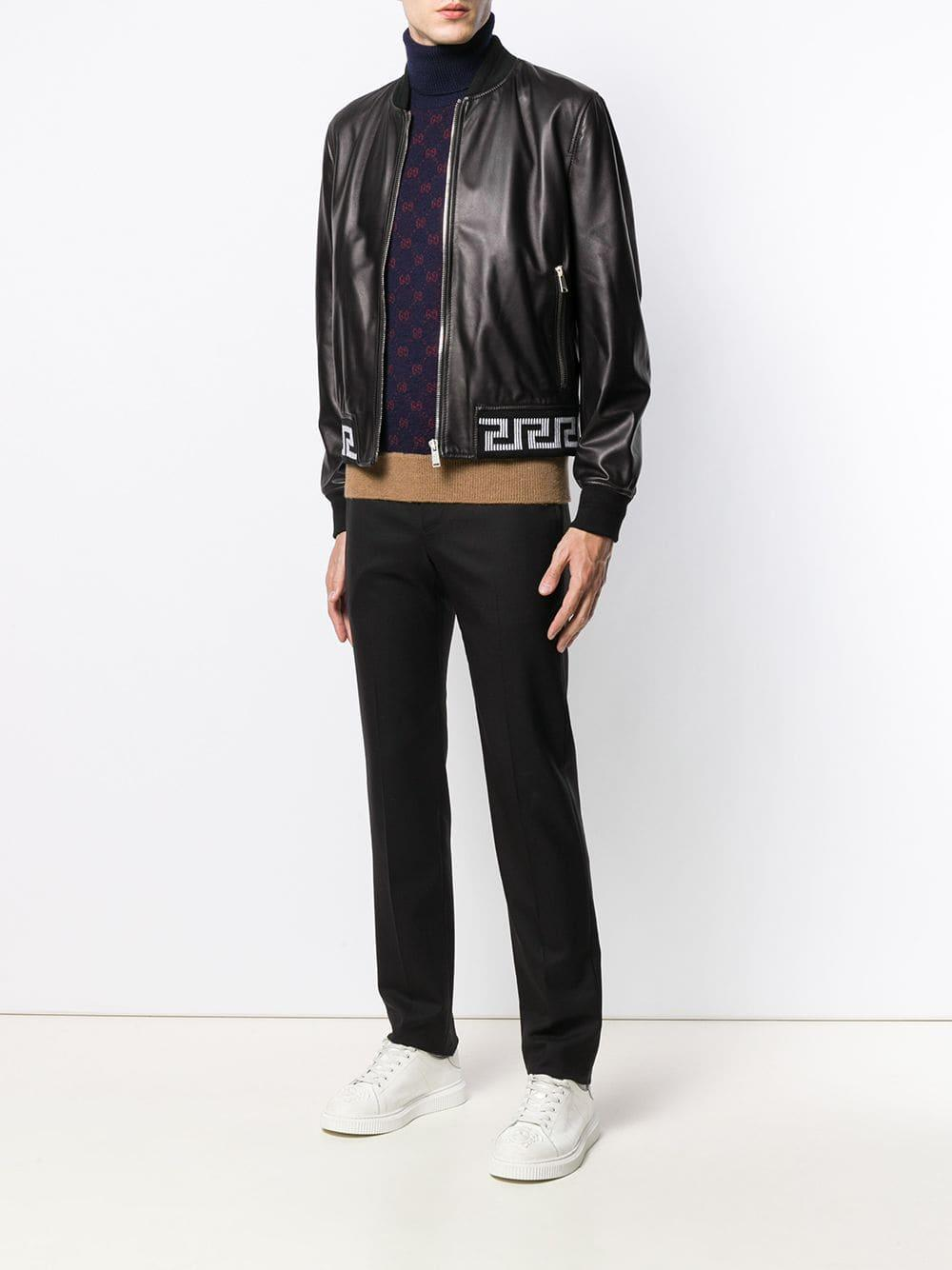 Versace Jack Met Motief in het Zwart voor heren