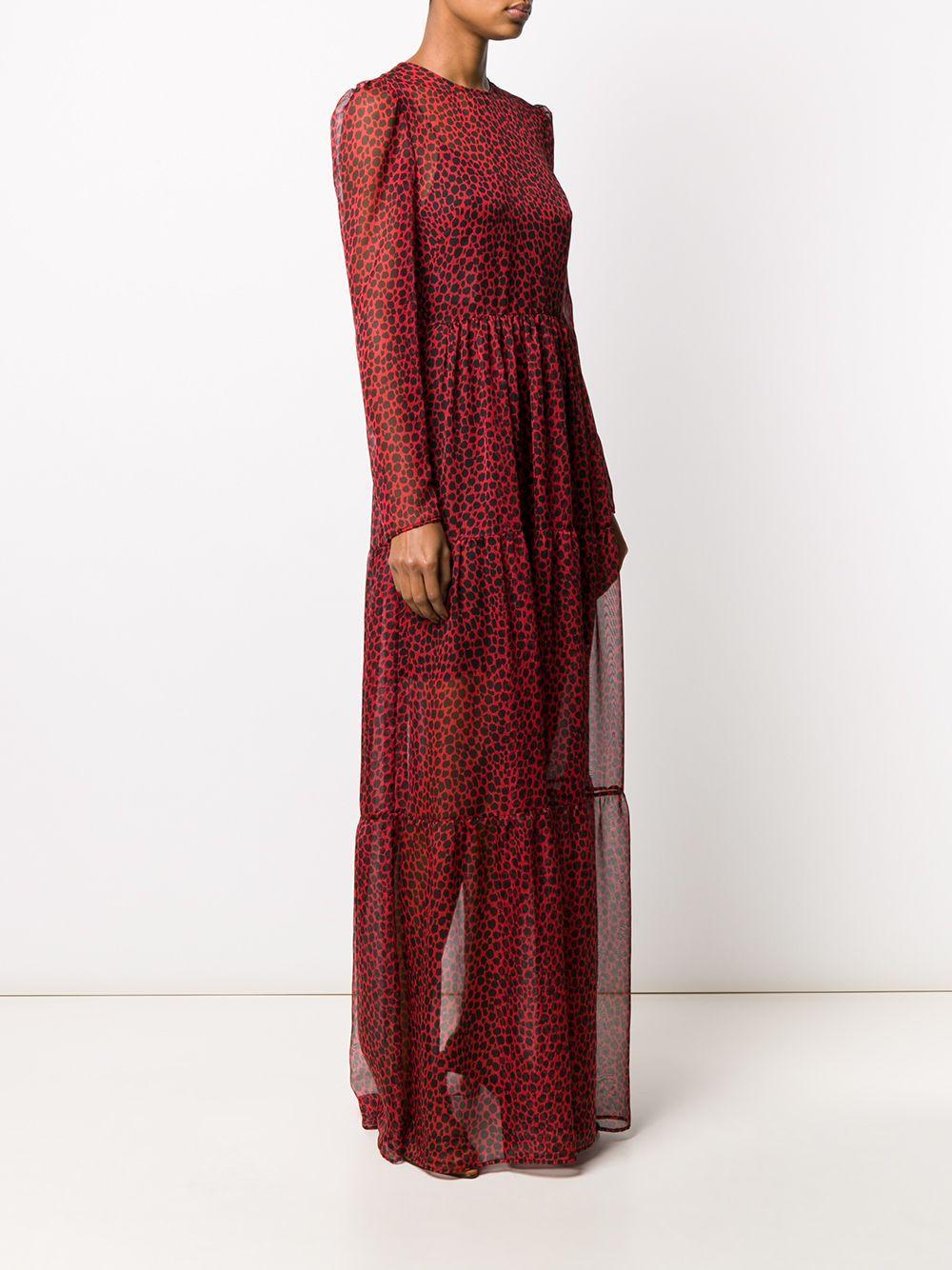 Robe longue à imprimé léopard Philosophy Di Lorenzo Serafini en coloris Noir