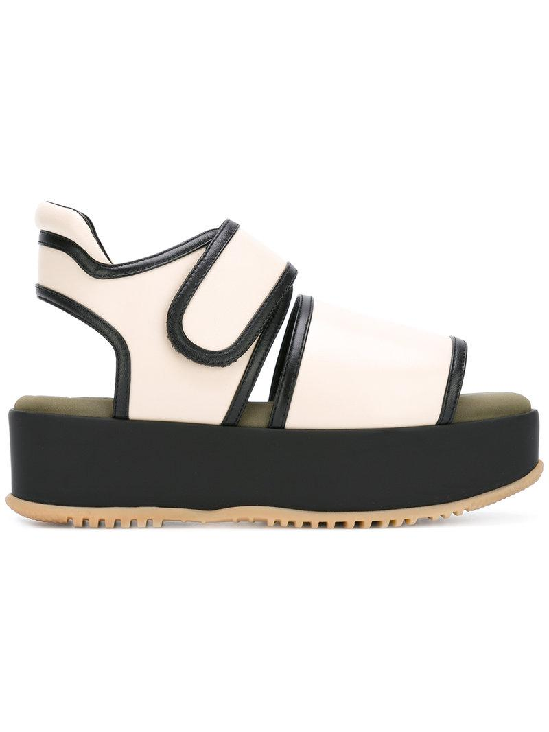 contrast strap platform sole sandals - Nude & Neutrals Marni 8WevVGwT