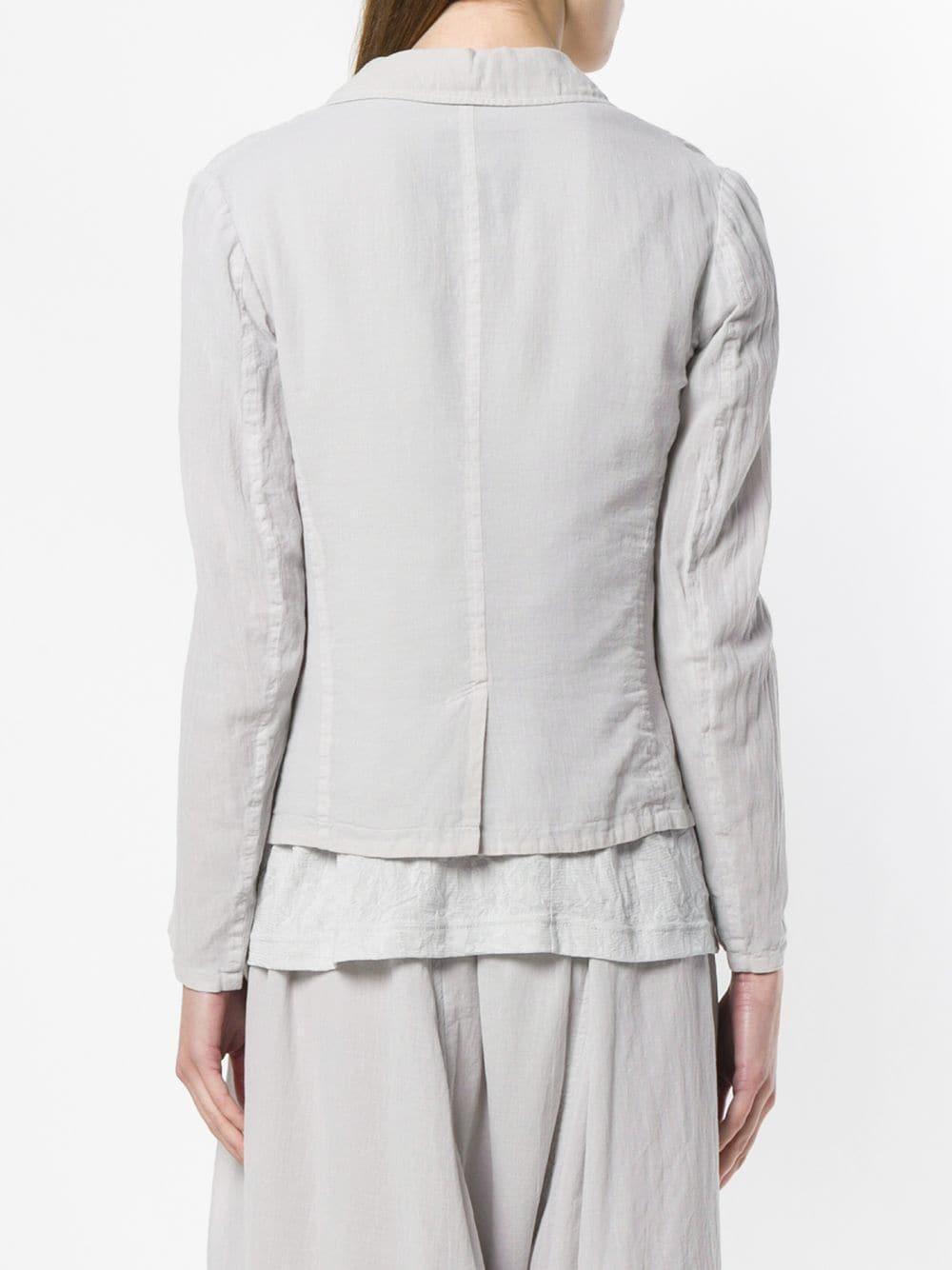 Blazer boutonné Coton Y's Yohji Yamamoto en coloris Gris
