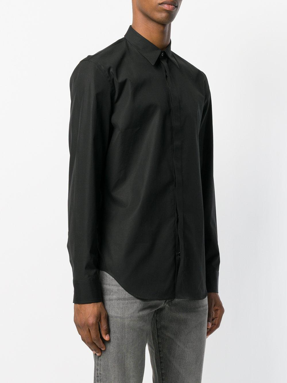 Maison Margiela Cotton Formal Fitted Shirt in Black for Men