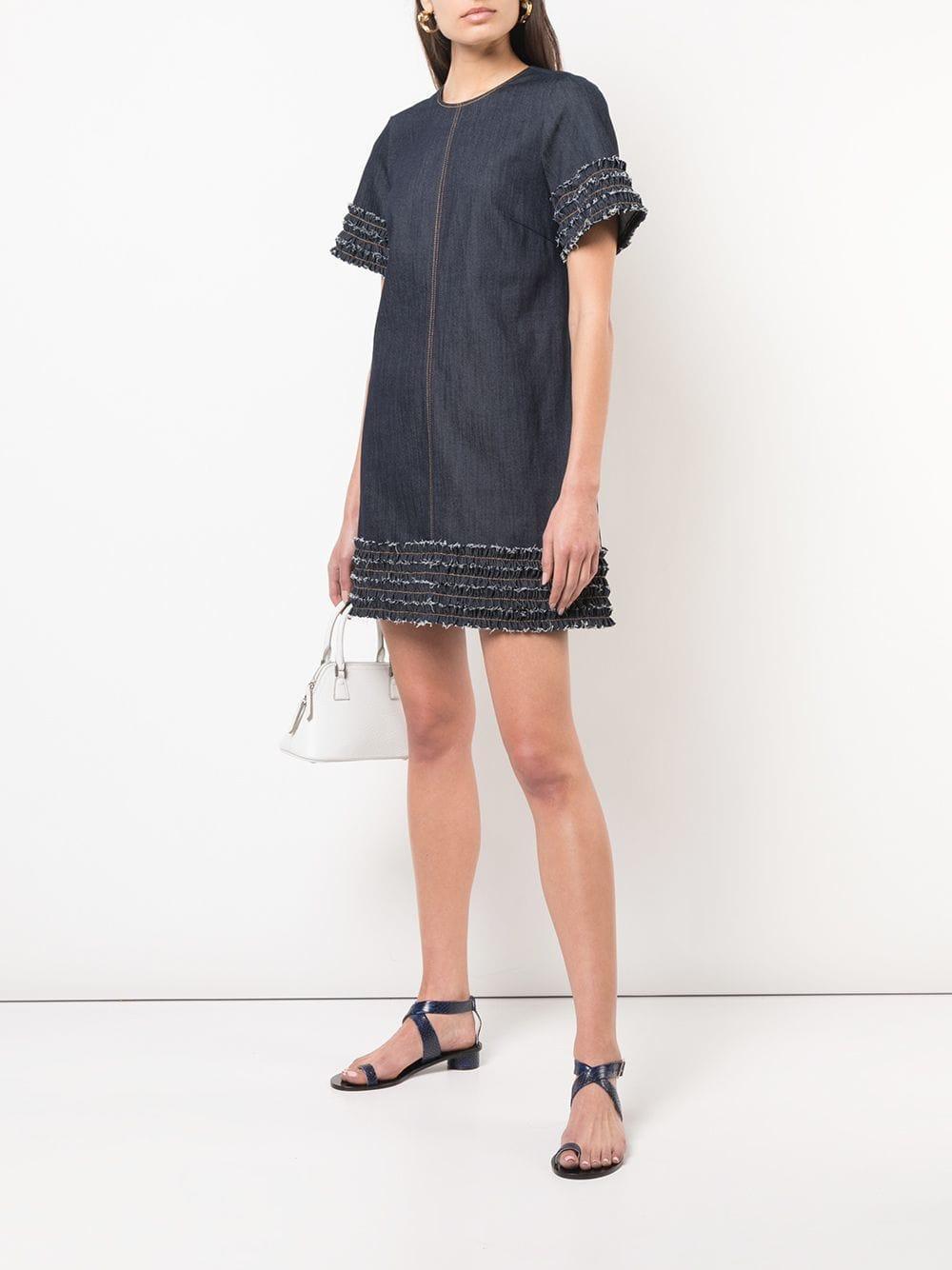 4df73570b2 Lyst - Cinq À Sept Ashton Denim Dress in Gray