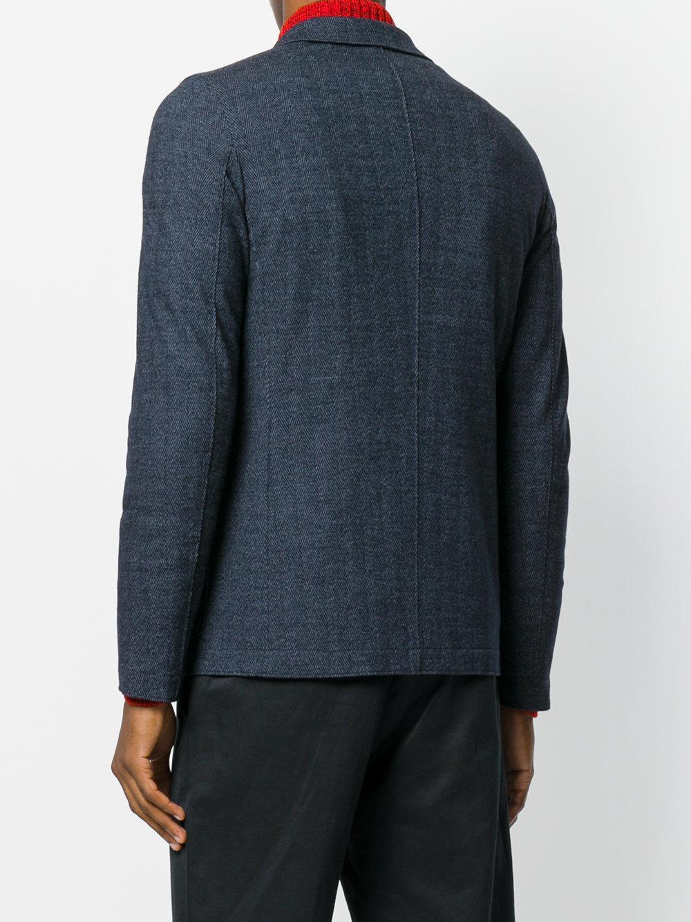 Harris Wharf London Wool Patch Pocket Blazer in Blue for Men