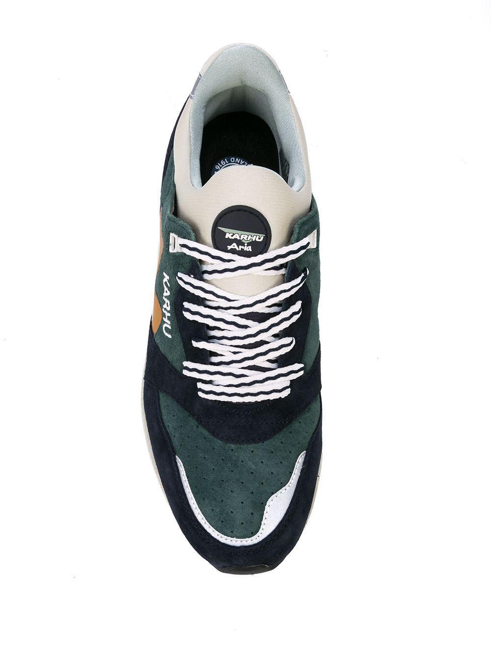 Zapatillas con diseño de paneles Karhu de Ante de color Verde para hombre