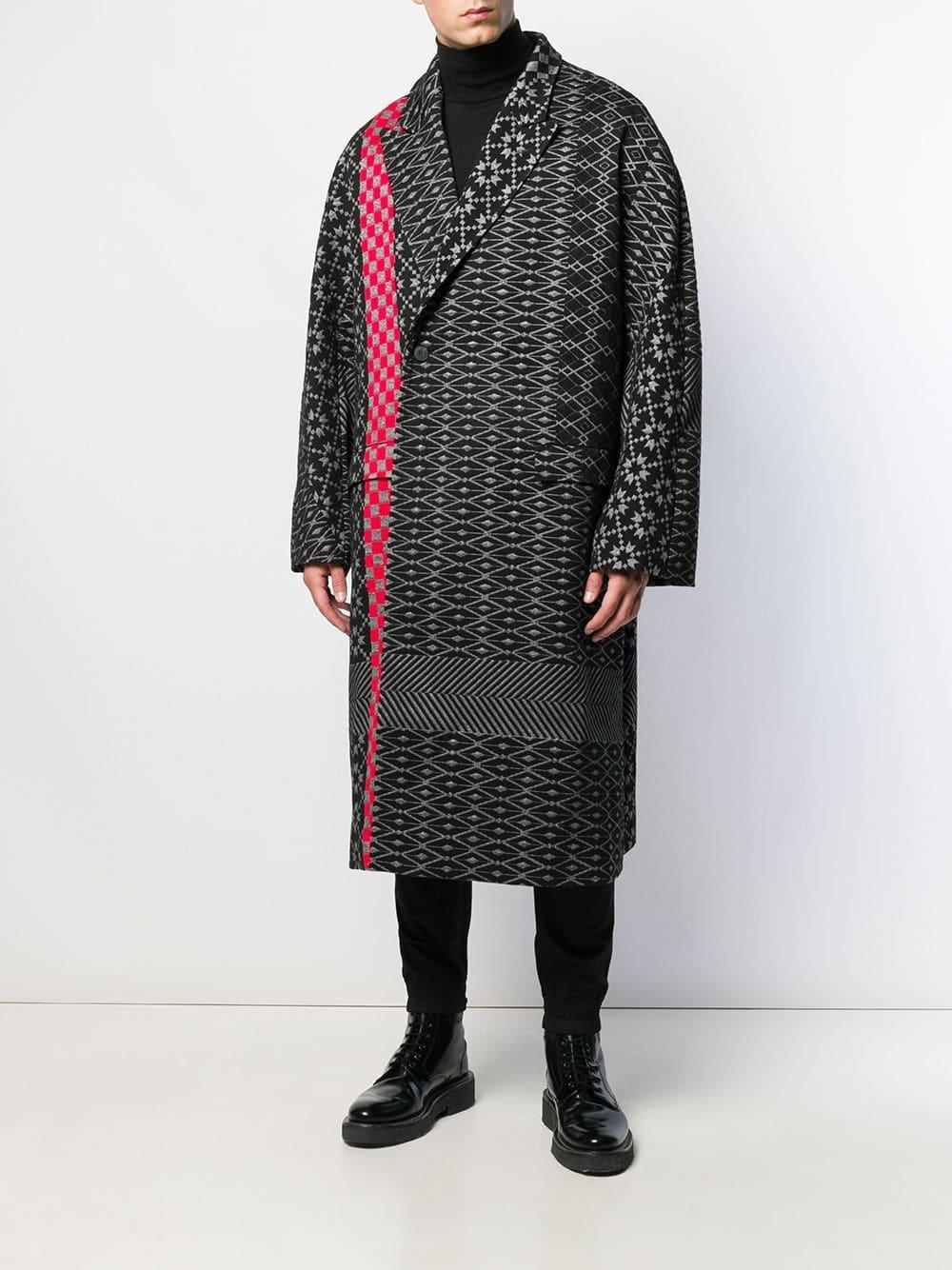 Haider Ackermann Katoen Oversized Jas in het Zwart voor heren