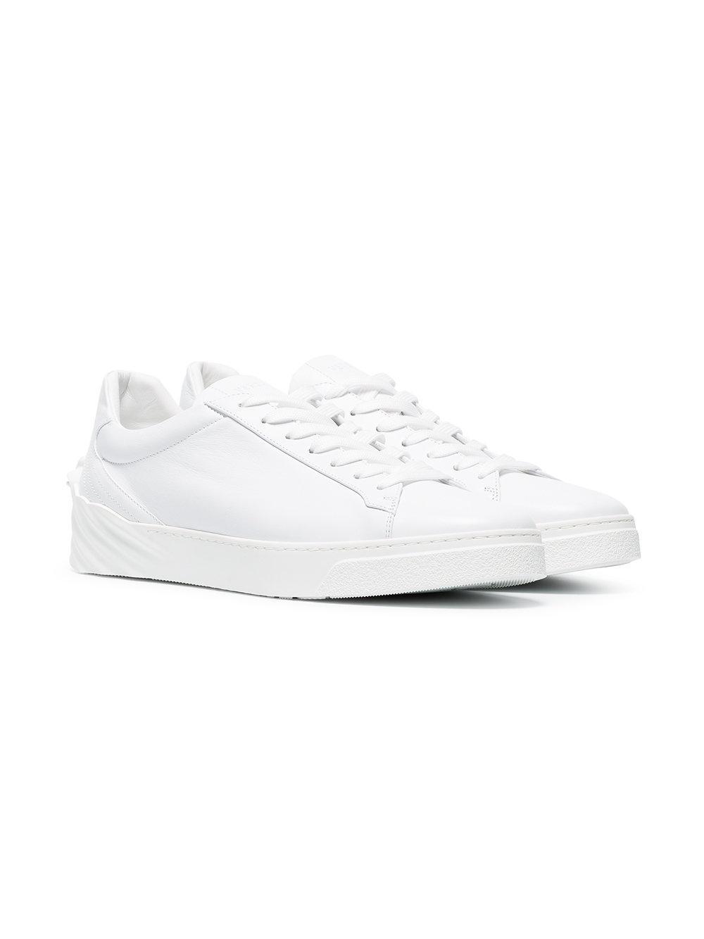 Zapatillas Medusa Versace de Cuero de color Blanco para hombre