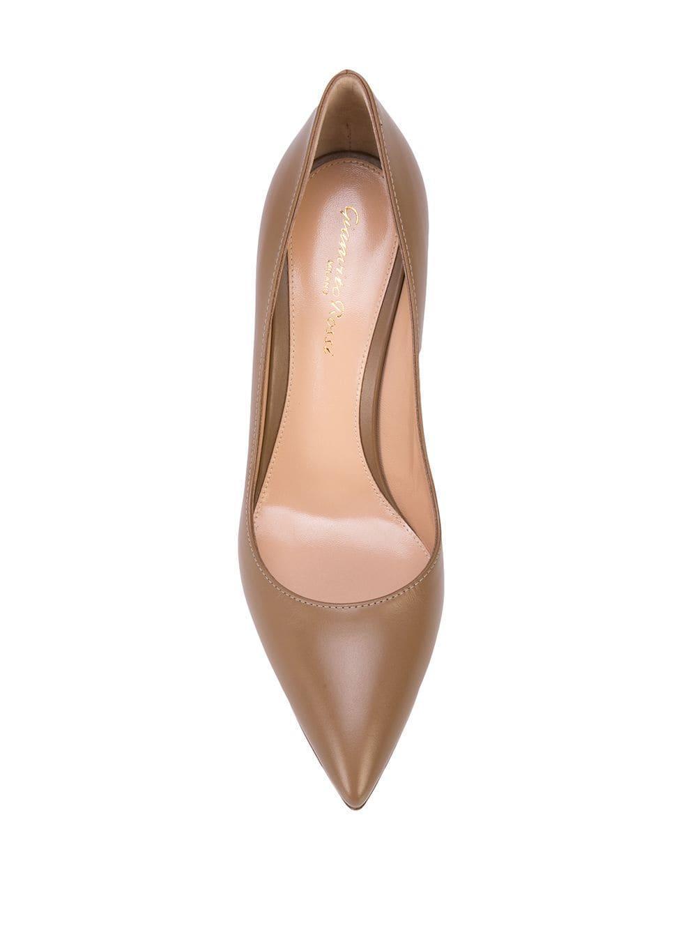 Zapatos de tacón con puntera en punta Gianvito Rossi de Cuero de color Marrón