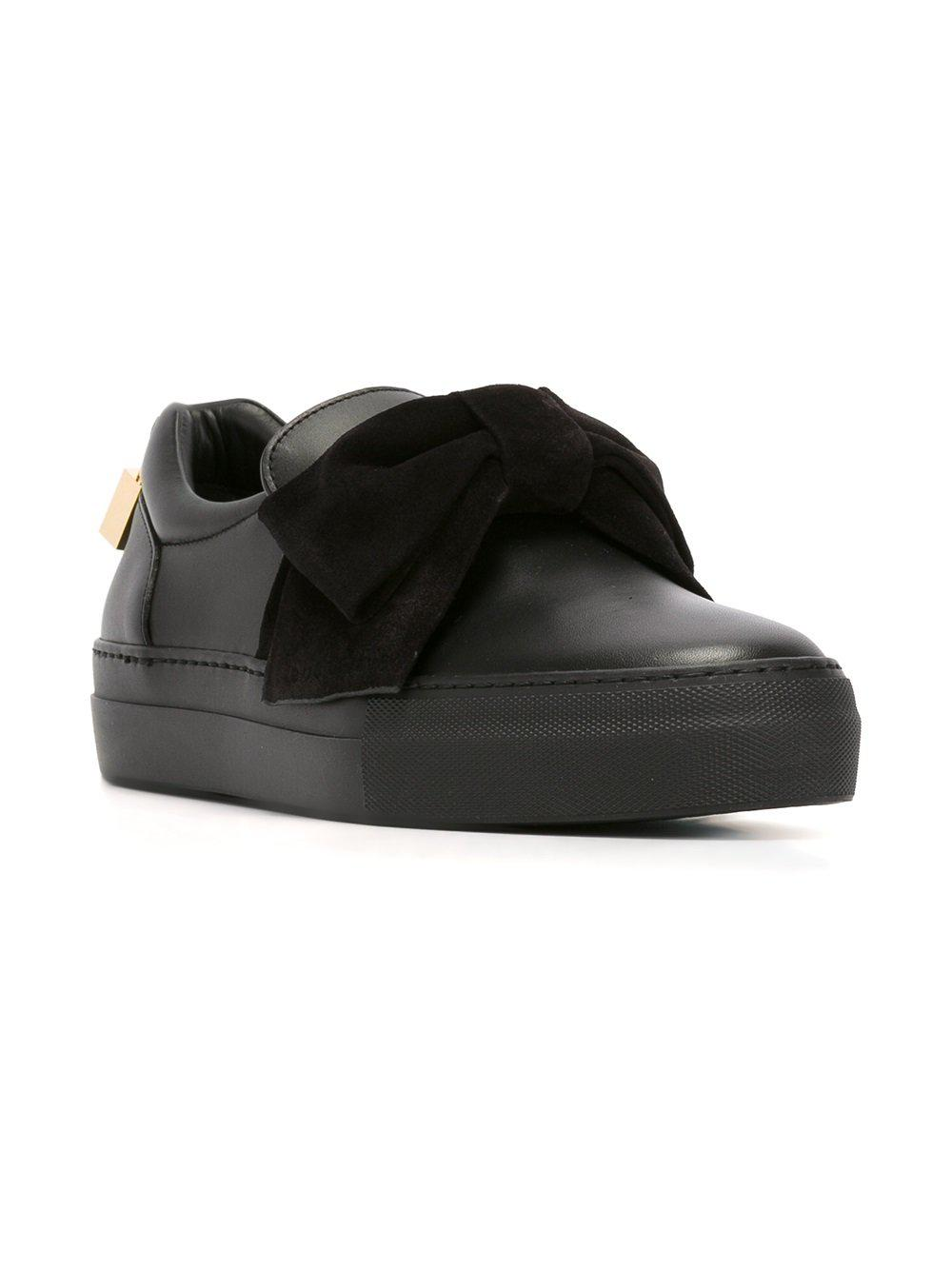 Buscemi Leather Bow Detail Sneakers in Black
