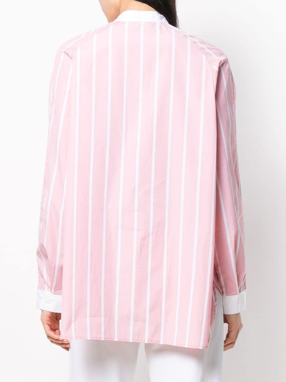 Camisa a rayas de manga larga Thierry Colson de Algodón de color Rosa