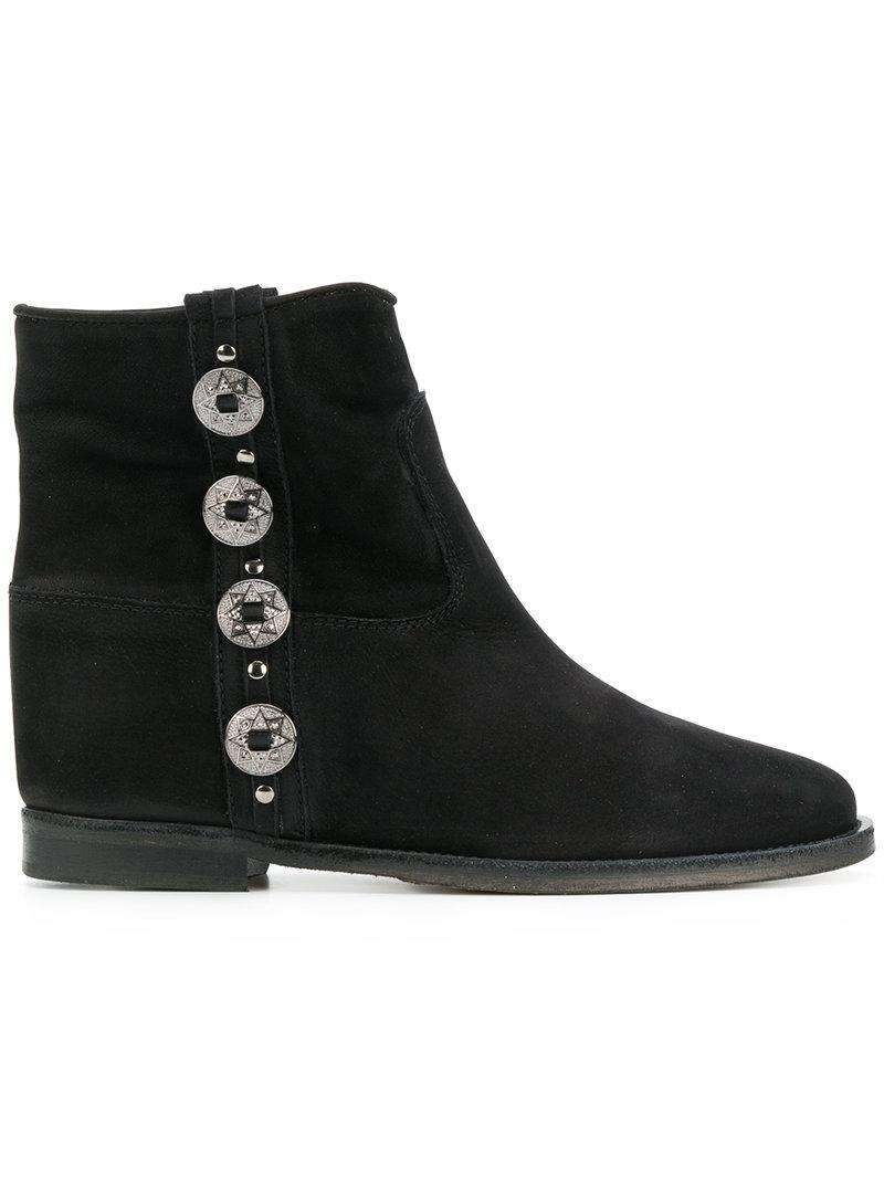 exclusive Via Roma 15 chain embellished ankle boots hot sale for sale low shipping online excellent sale online discount new arrival pJOVQnoVr8