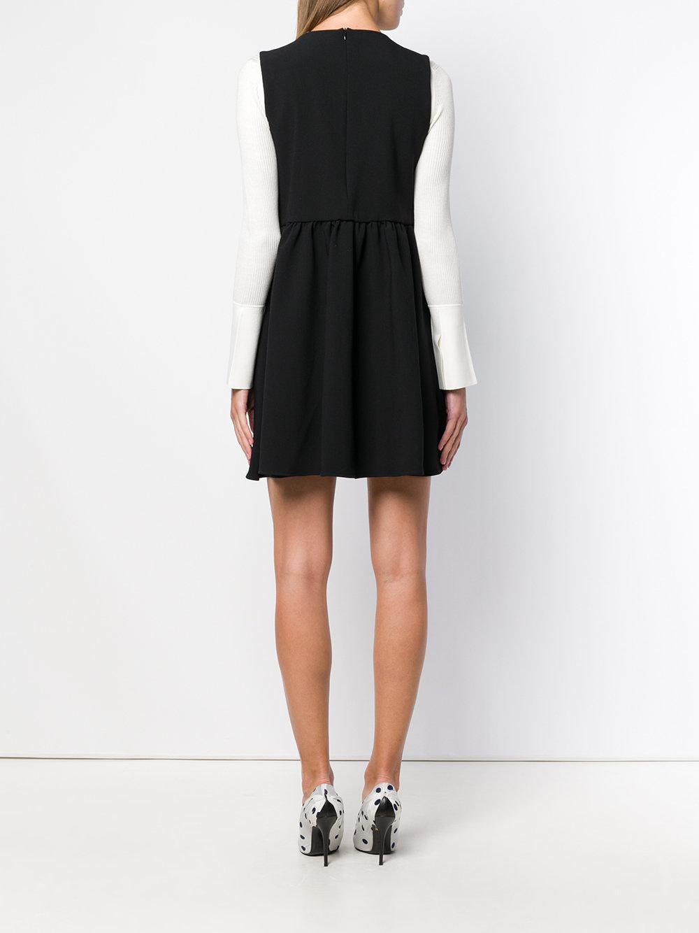 Button-detail flared mini dress Synthétique Vivetta en coloris Noir