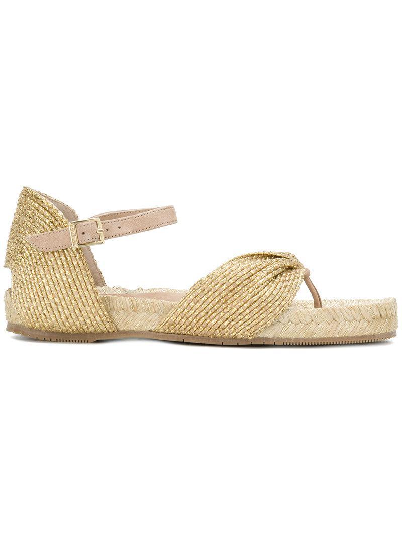 side buckle espadrille sandals - Metallic Paloma Barcel 0lH0XJHS