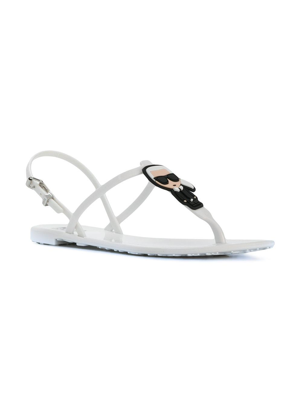 Cat And Lyst Jelly Lagerfeld White Rubber In Karl Sandals IwXUXqRx