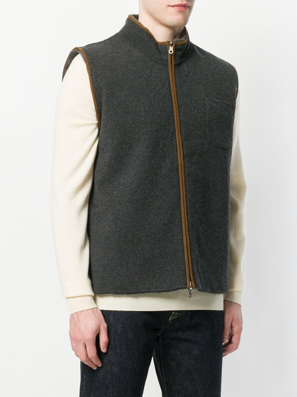 zipped gilet jacket - Grey N.Peal Cheap For Cheap Shop Largest Supplier Online Cheap Outlet kEwUiYRino