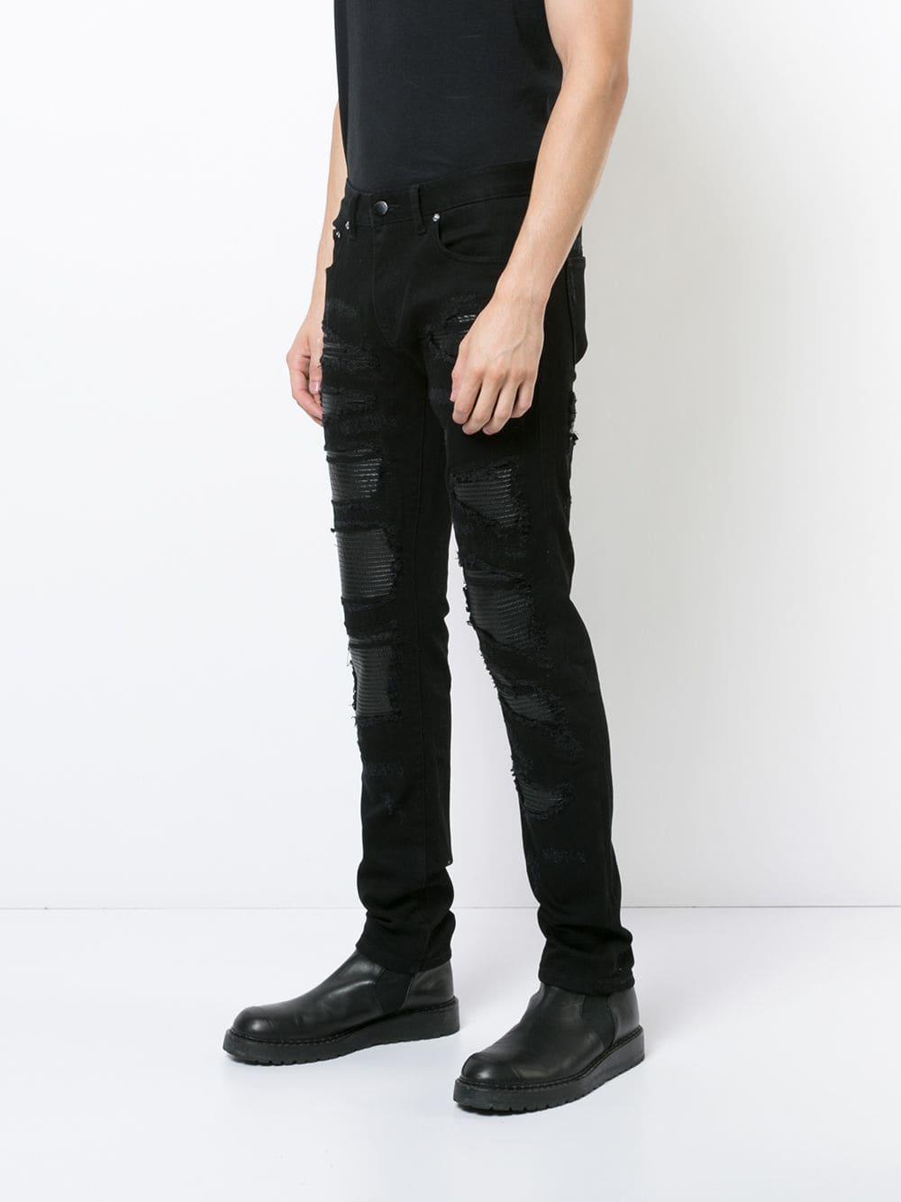 God's Masterful Children Denim Strati Distressed Jeans in het Zwart voor heren