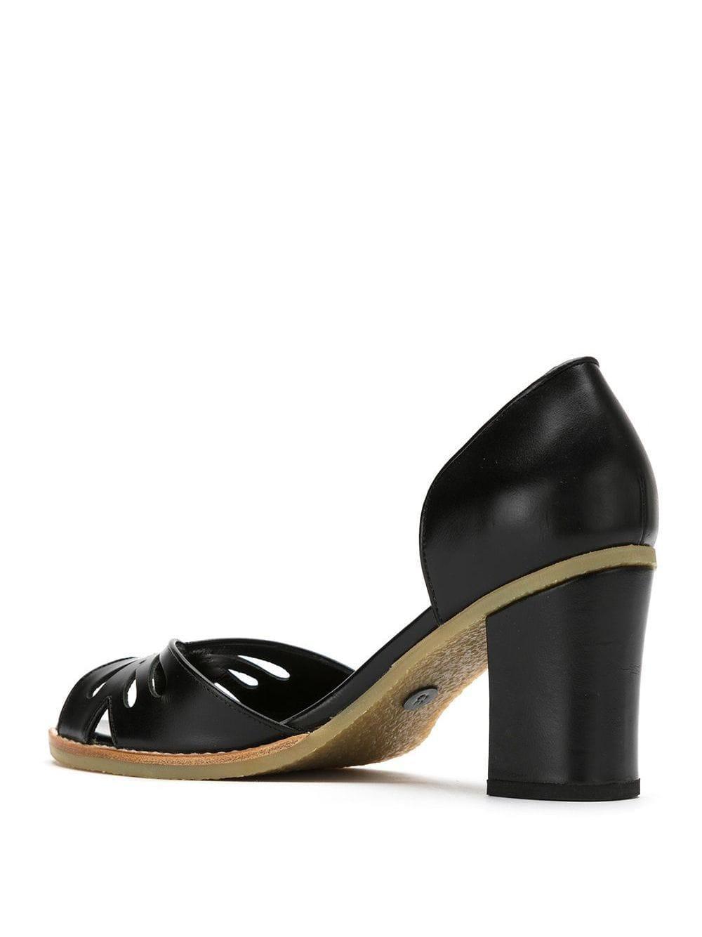 Zapatos de tacón Sarah Chofakian de Cuero de color Negro