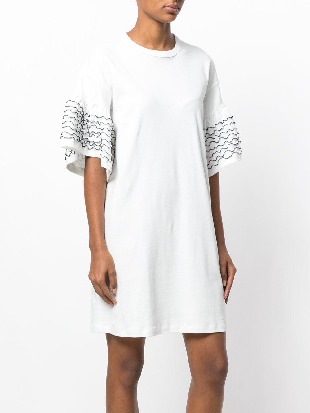 frilled flared dress - White See By Chlo HnZ7mb