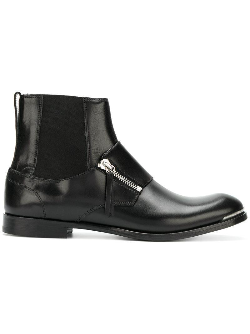 Brown Zermatt Zip Boots Alexander McQueen aVf3d