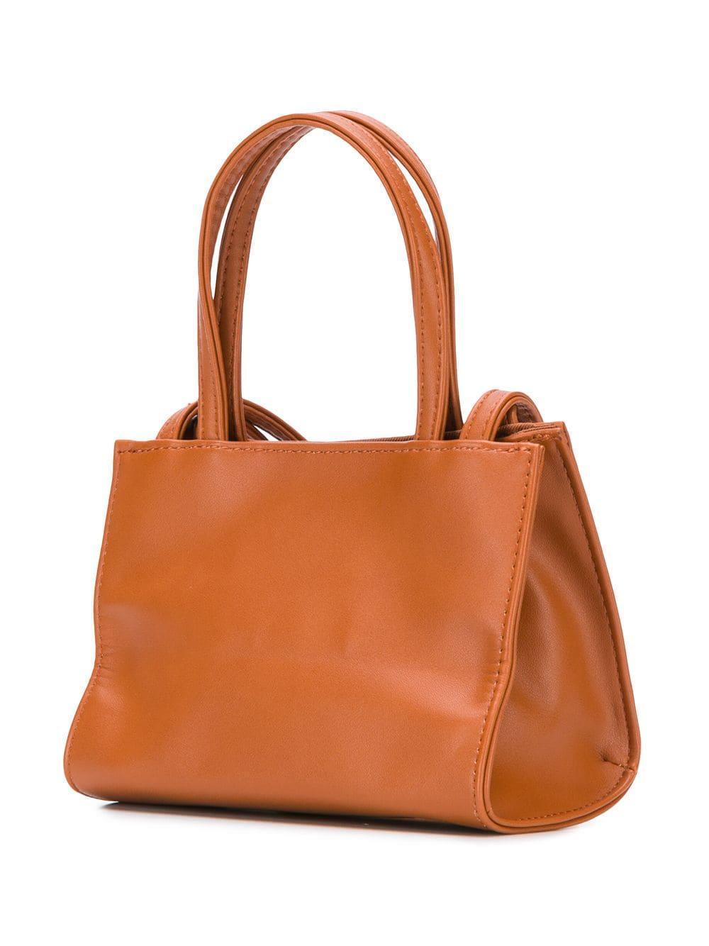 Telfar Mini Shopping Bag in Brown for Men - Lyst