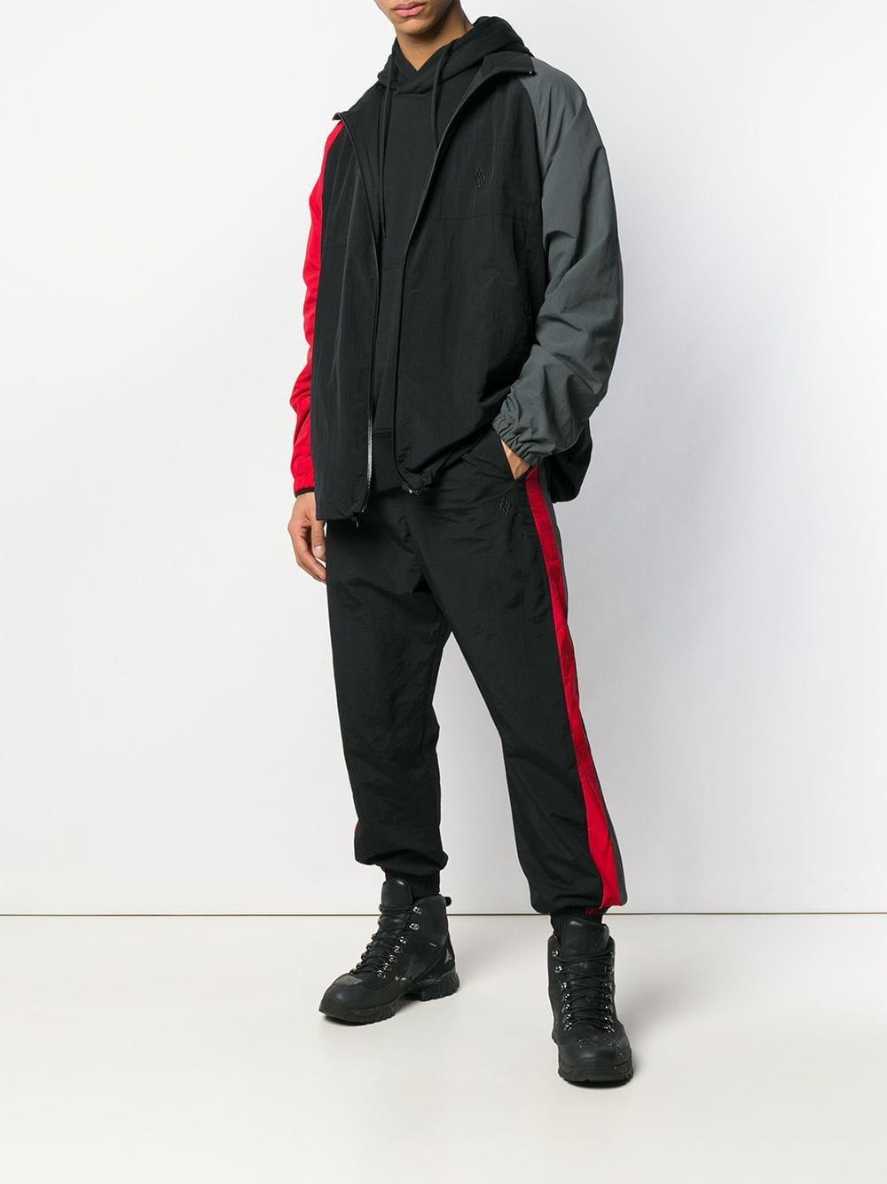 Marcelo Burlon Synthetisch Windjack Met Colourblocking in het Zwart voor heren
