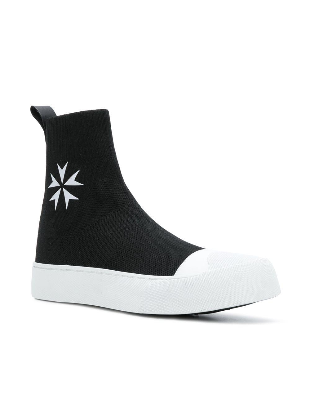 Neil Barrett Synthetic Sock Skate Hi-top Sneakers in Black