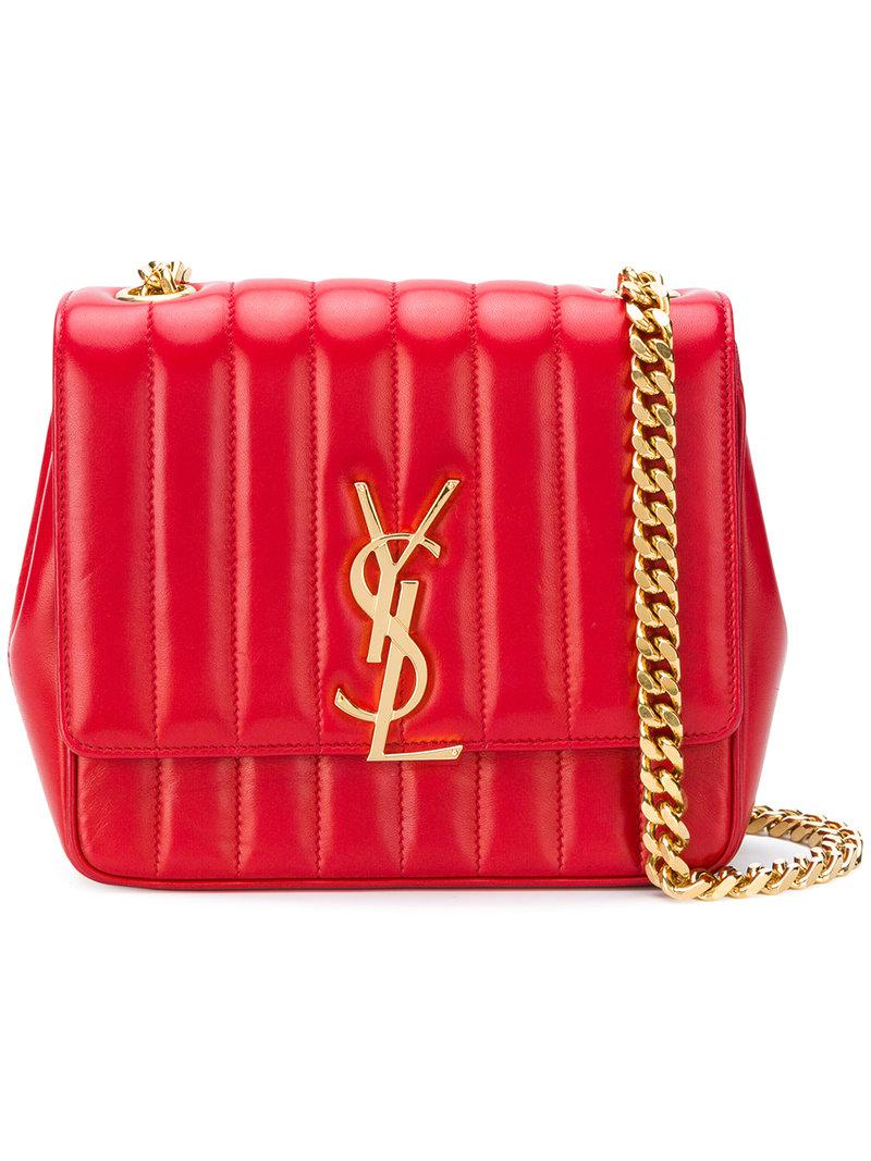 Lyst - Saint Laurent Vicky Shoulder Bag in Red 5169158121c06