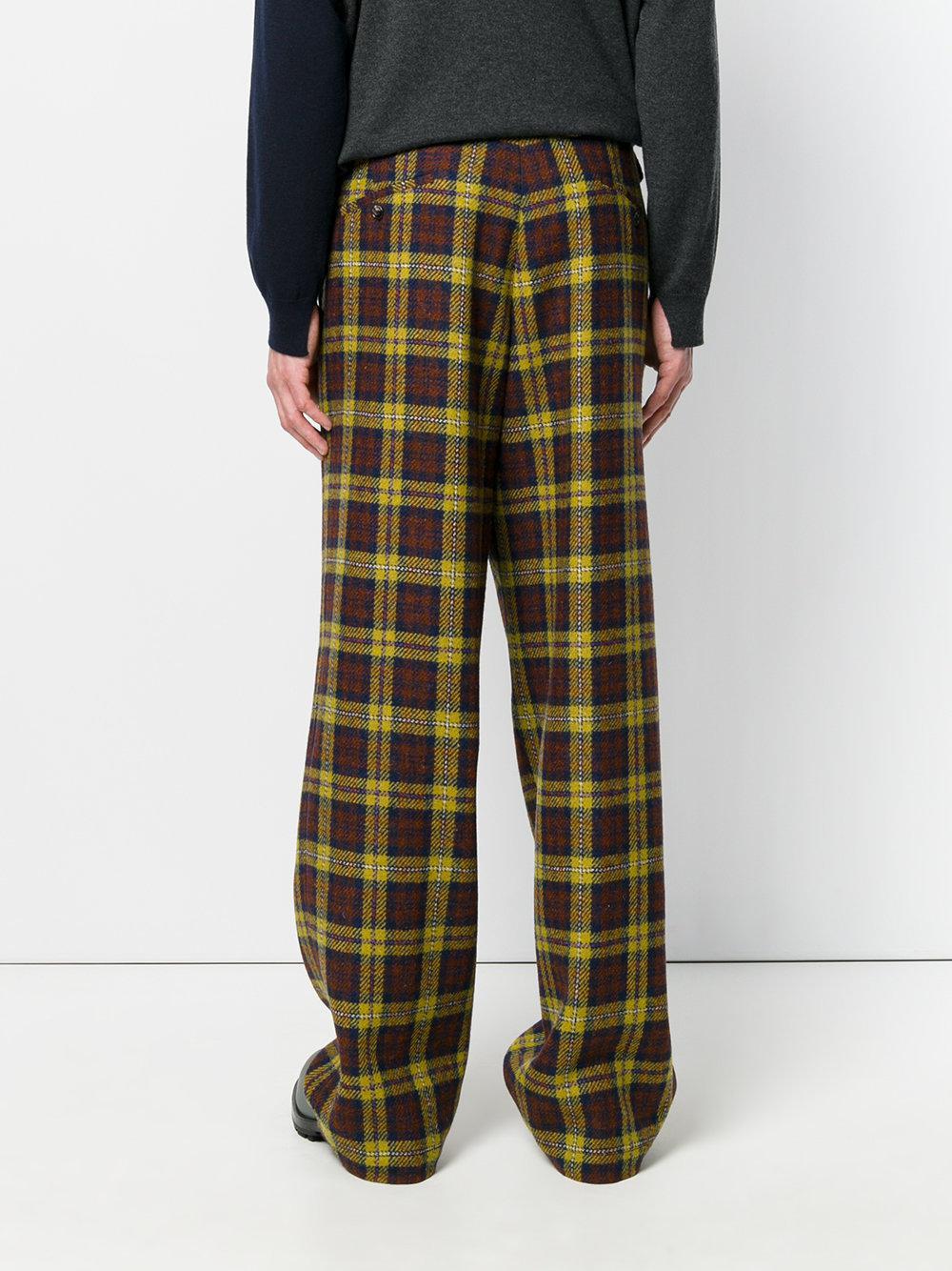 Marni Cotton Tartan Trousers for Men