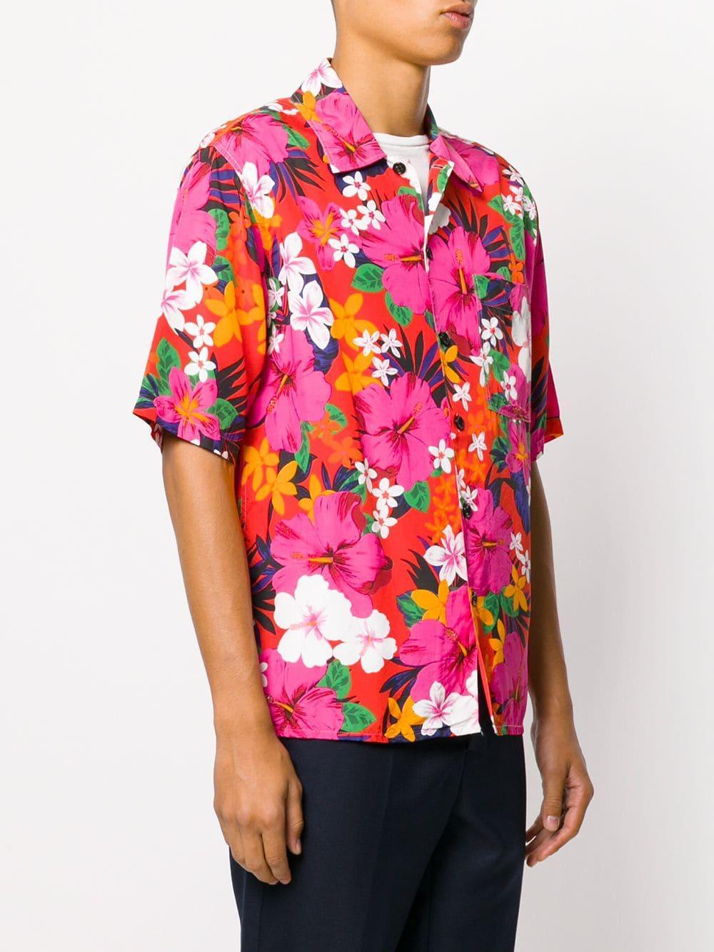AMI Overhemd Met Korte Mouwen in het Roze voor heren