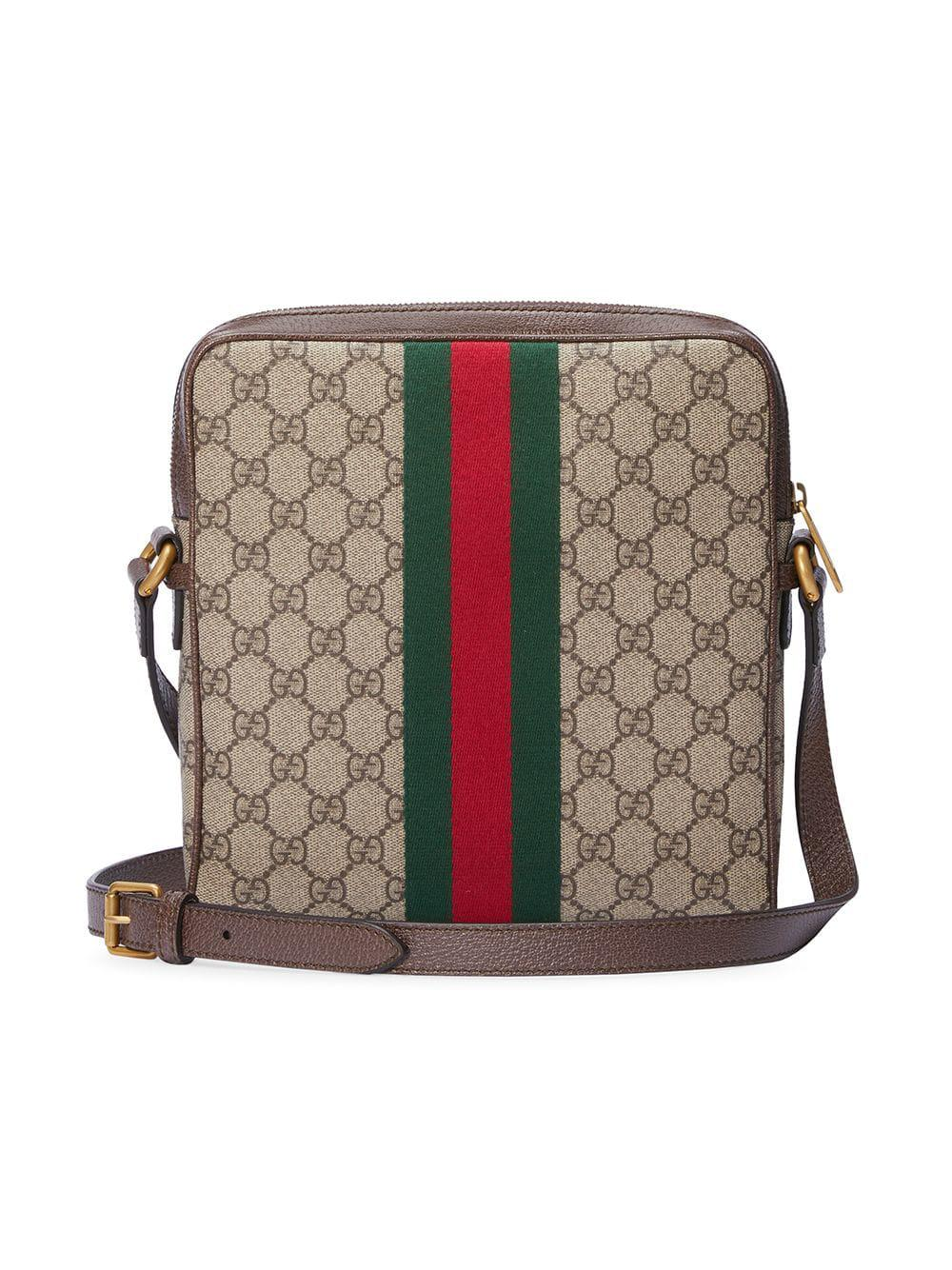 68c405948573 Gucci - Brown Ophidia GG Small Messenger Bag for Men - Lyst. View fullscreen