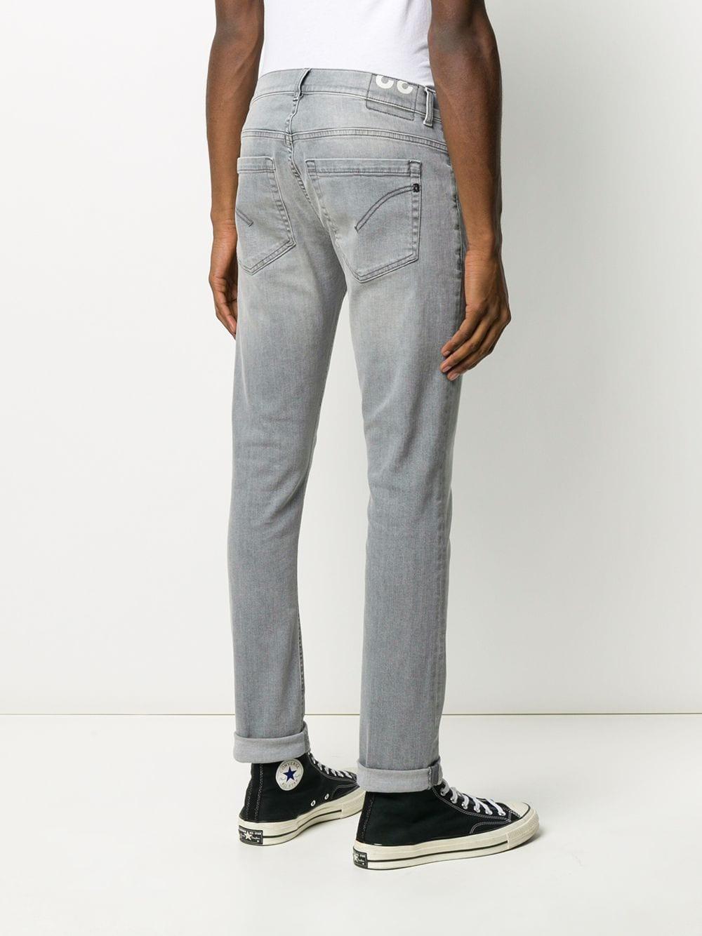 Dondup Denim Jeans Met Vervaagd Effect in het Grijs voor heren
