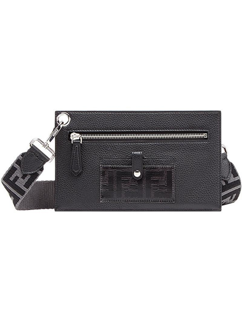 a3d2fed9ae99 Fendi Small Travel Clutch Bag in Black for Men - Lyst
