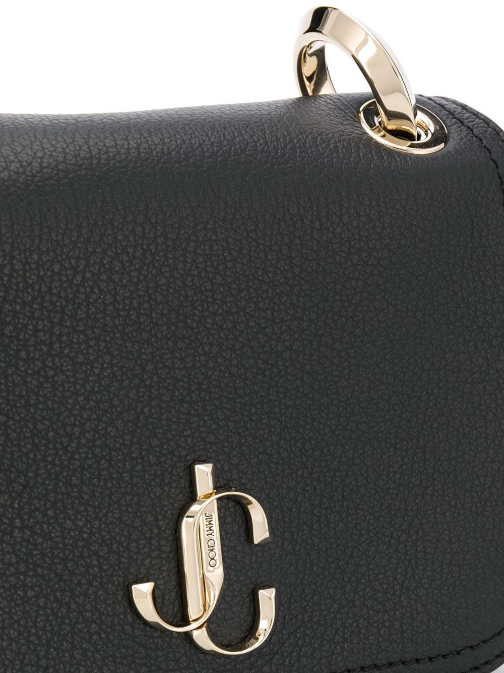 Petit sac à bandoulière Varenne Cuir Jimmy Choo en coloris Noir