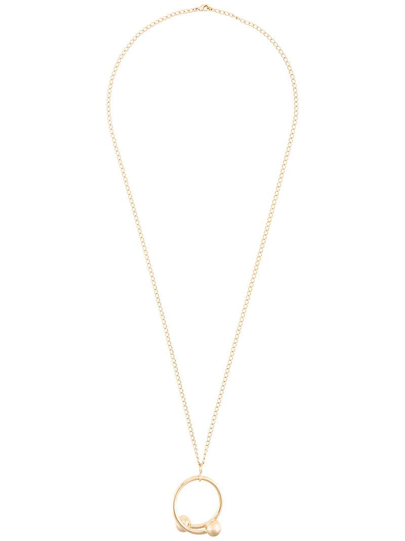 PetiteGrand Double Heart necklace - Metallic 9ibY7OqL6k