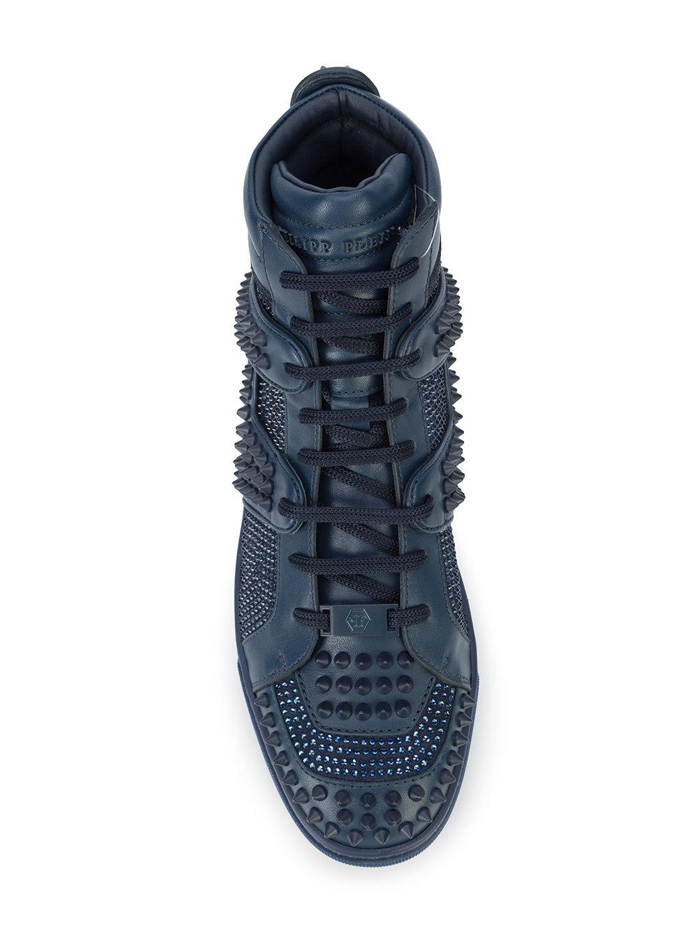 bb3f4bd917 Philipp Plein Don't Wake Me Up Hi-top Sneakers in Blue for Men - Lyst