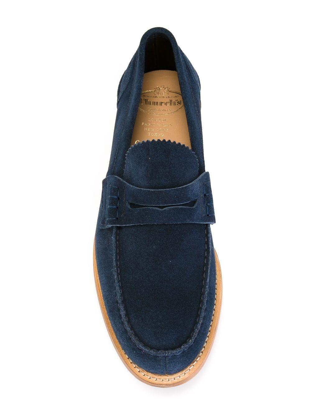 Church's Suede 'pembrey' Loafers in Blue for Men