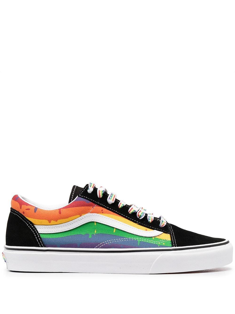 Vans Rainbow Drip Old Skool Shoes in Black - Lyst