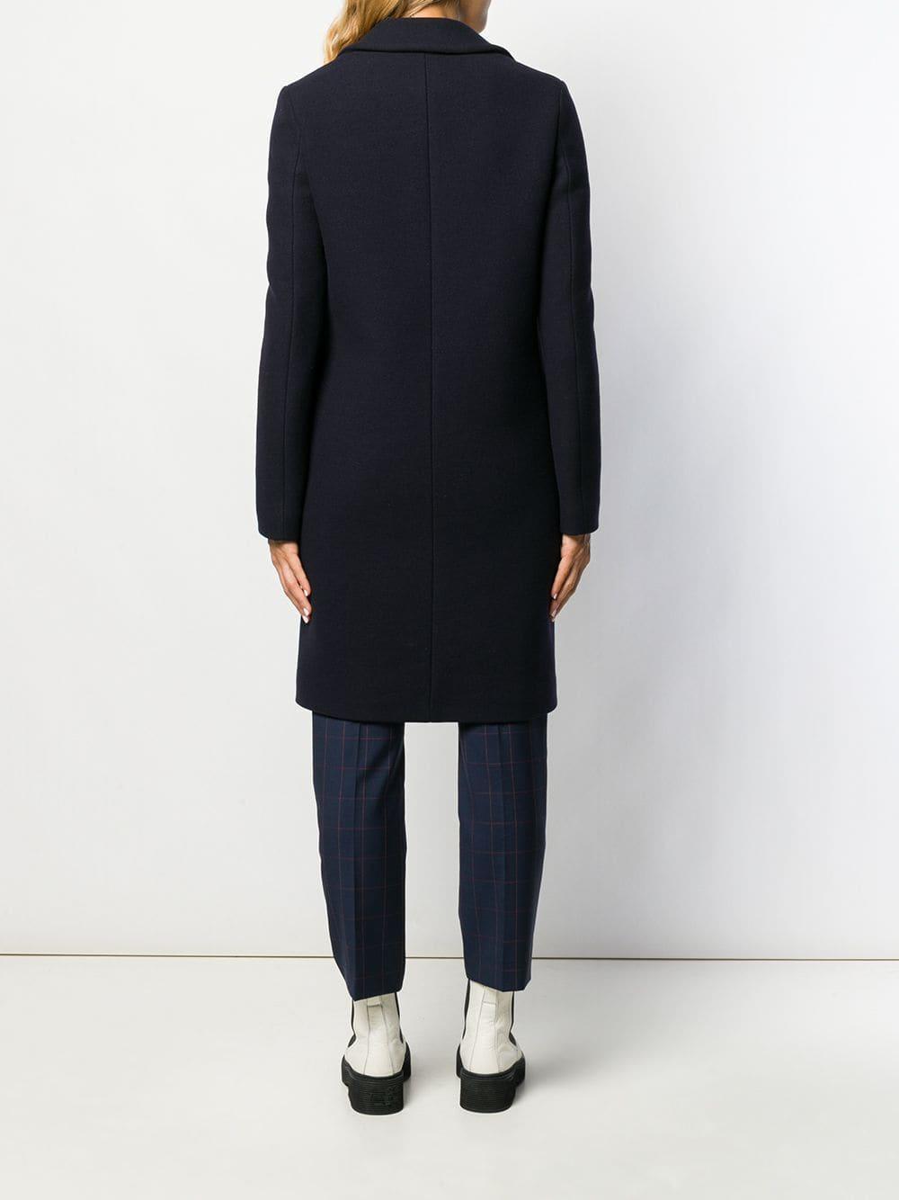 Manteau droit classique Laines MSGM en coloris Bleu FzQLN