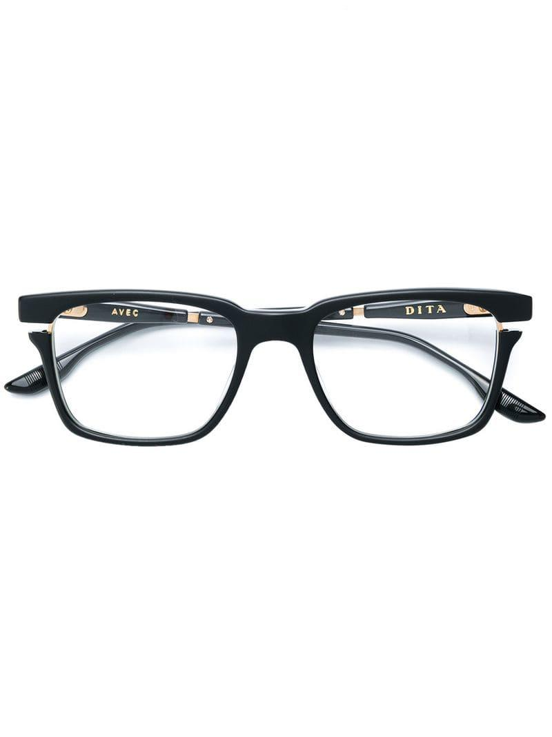a327648e11b Dita Eyewear Square Frame Glasses in Black - Lyst