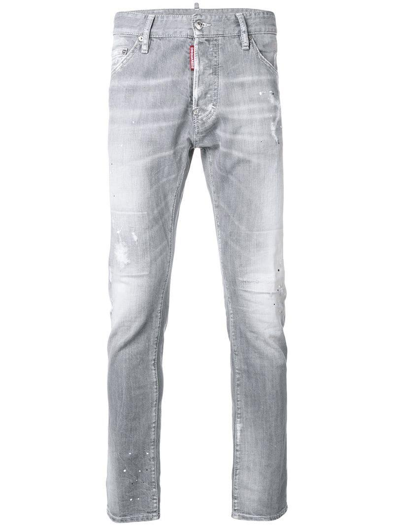 ea6f64b9b23 Lyst - DSquared² Cool Guy Lightly Distressed Jeans in Gray for Men