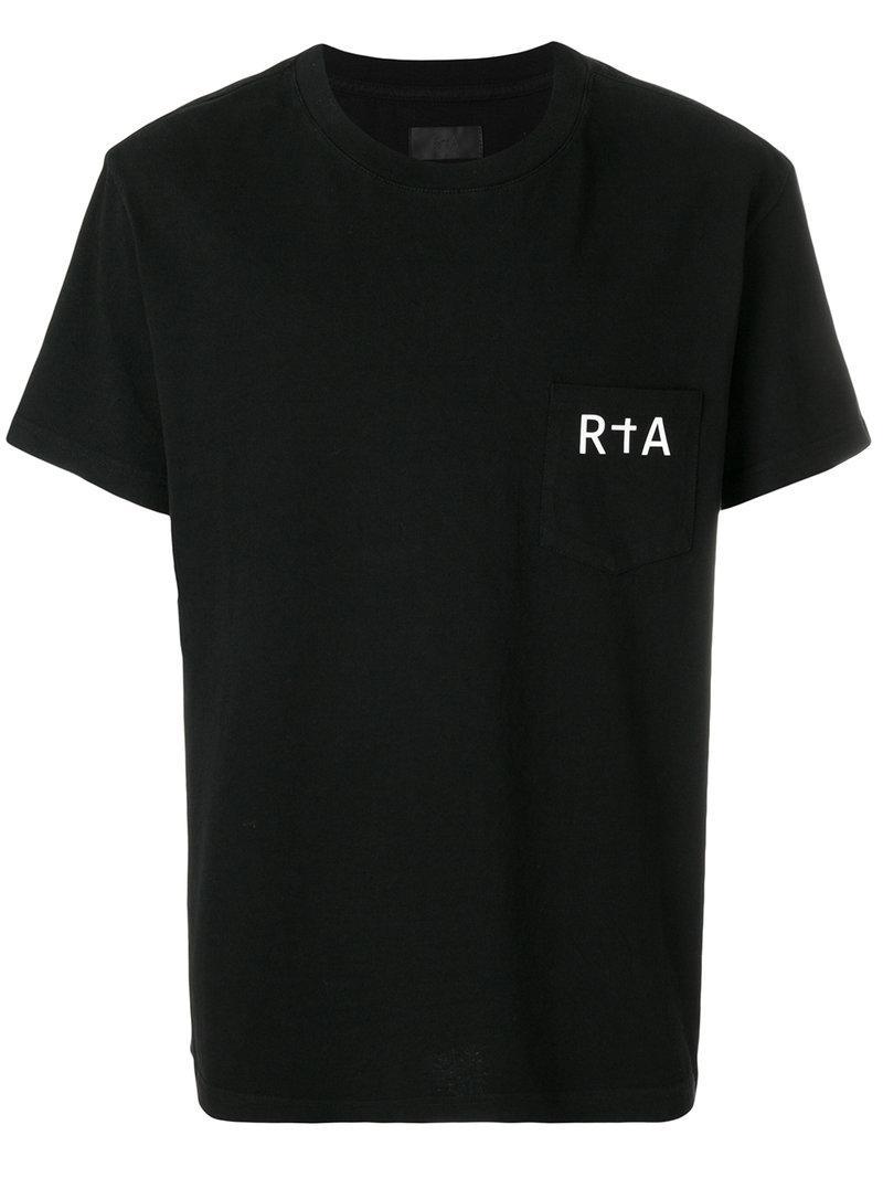 Lyst Rta Logo Print T Shirt In Black For Men