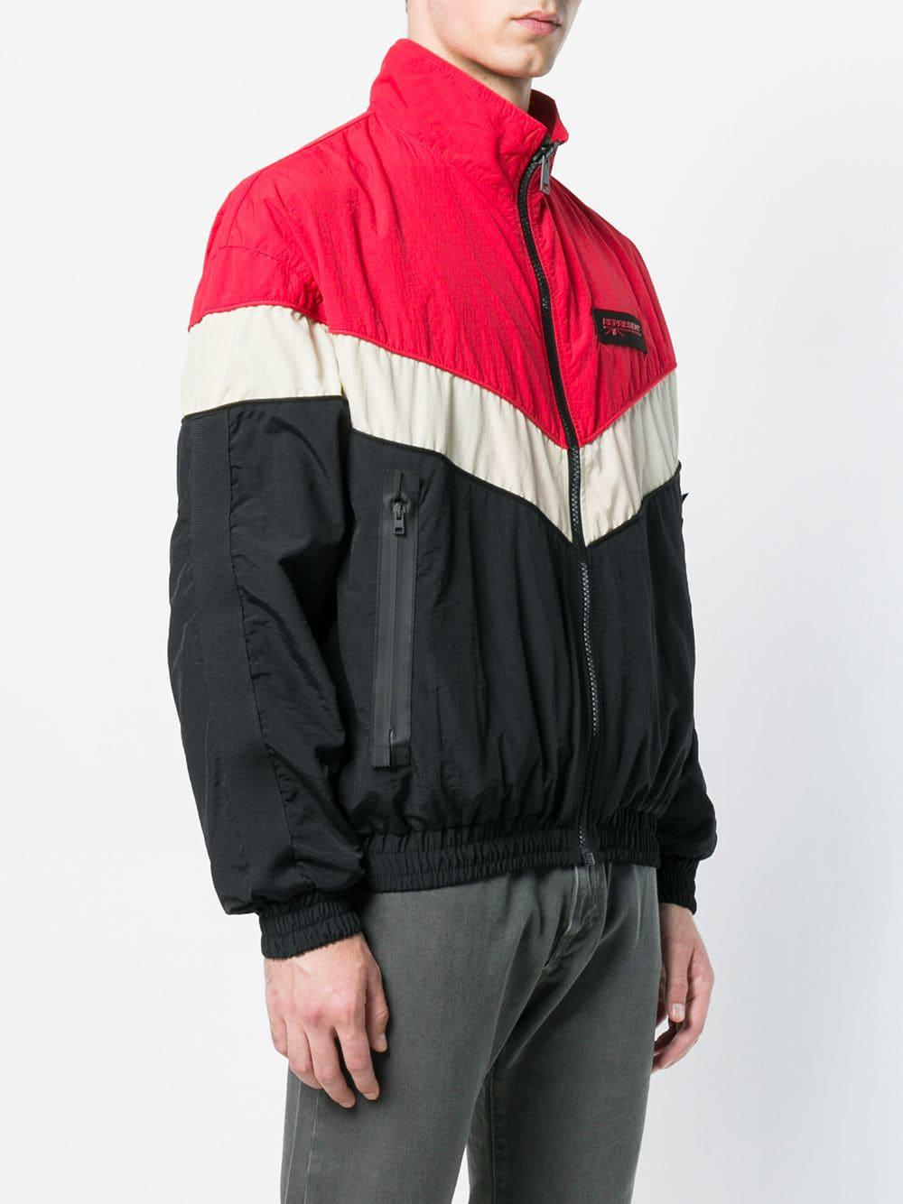 Represent Synthetic Colour Block Shell Jacket in Black for Men