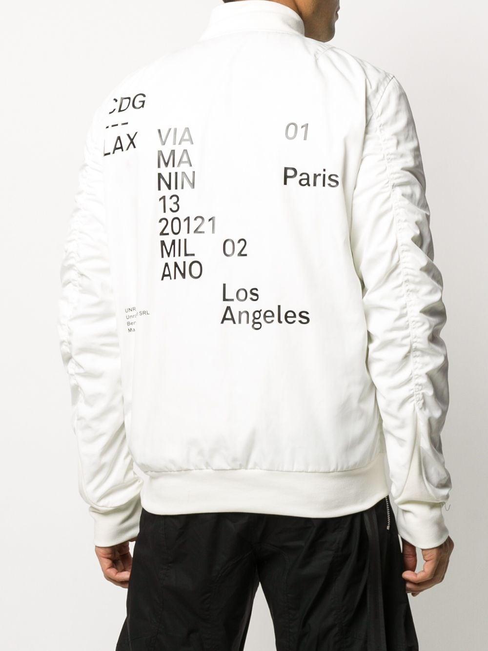 Unravel Project Synthetisch Bomberjack Met Print in het Wit voor heren