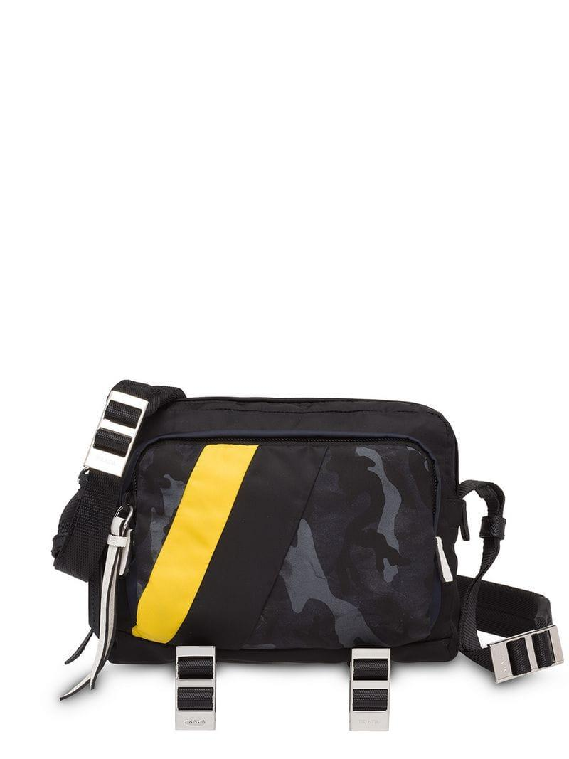 6dcde50047 Lyst - Prada Technical Fabric Messenger Bag in Blue for Men