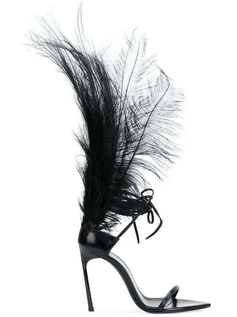 Saint Laurent Iris 105 Sandales - Noir A9BeuY8K