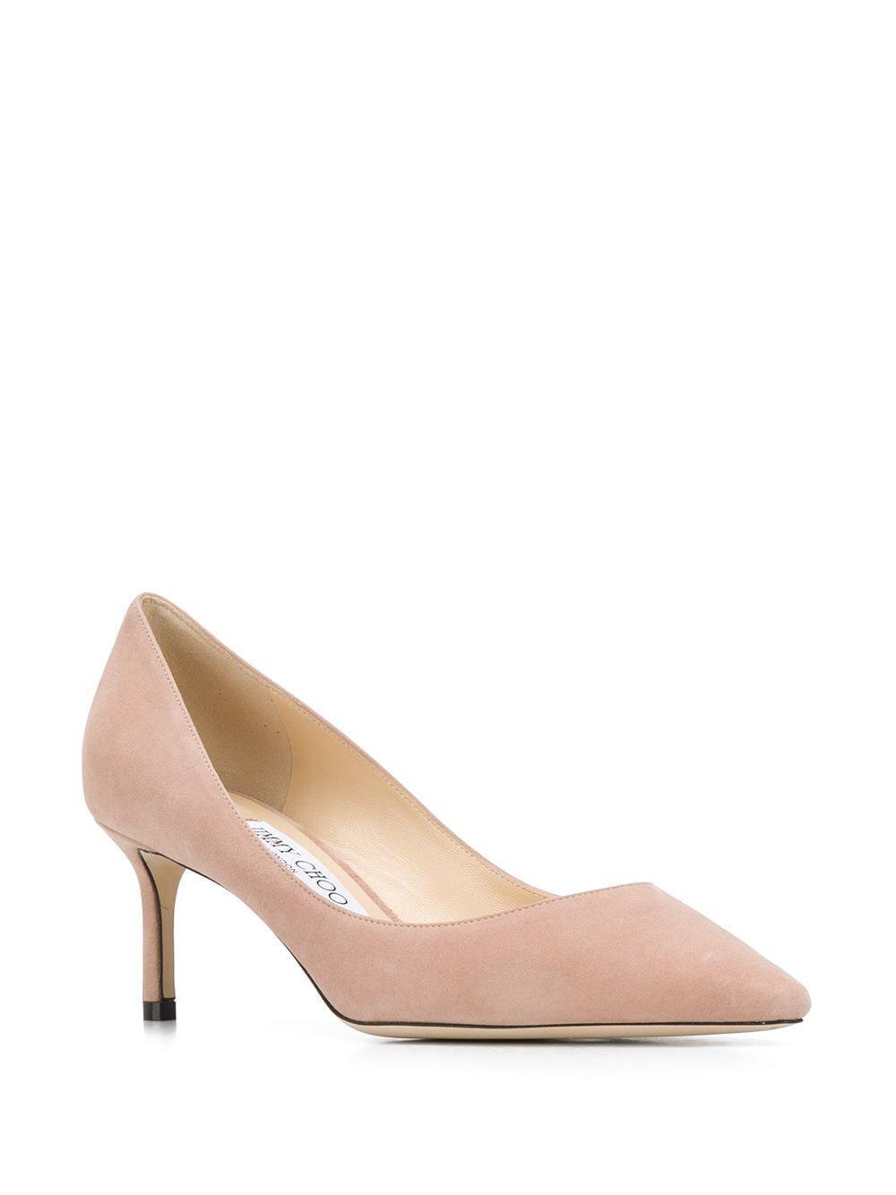 Zapatos de tacón de 60mm con puntera en punta Jimmy Choo de Cuero de color Rosa: ahorra un 30 %