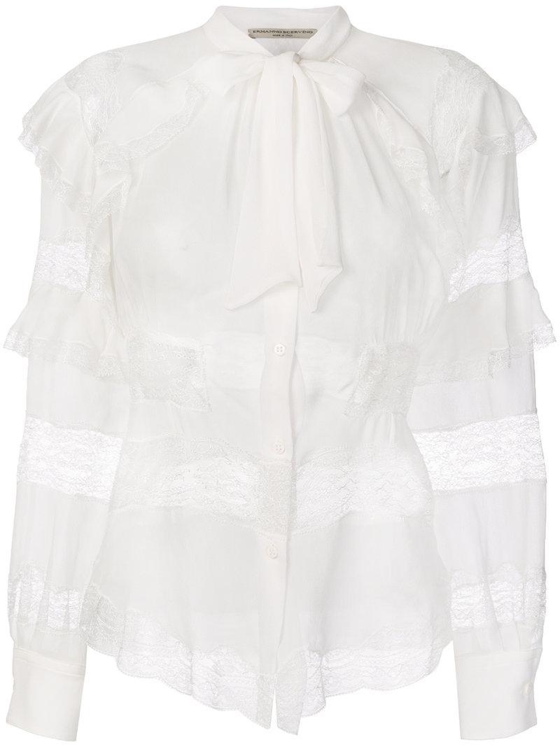 Ermanno Scervino lace insert blouse Discount Hot Sale OUrQg