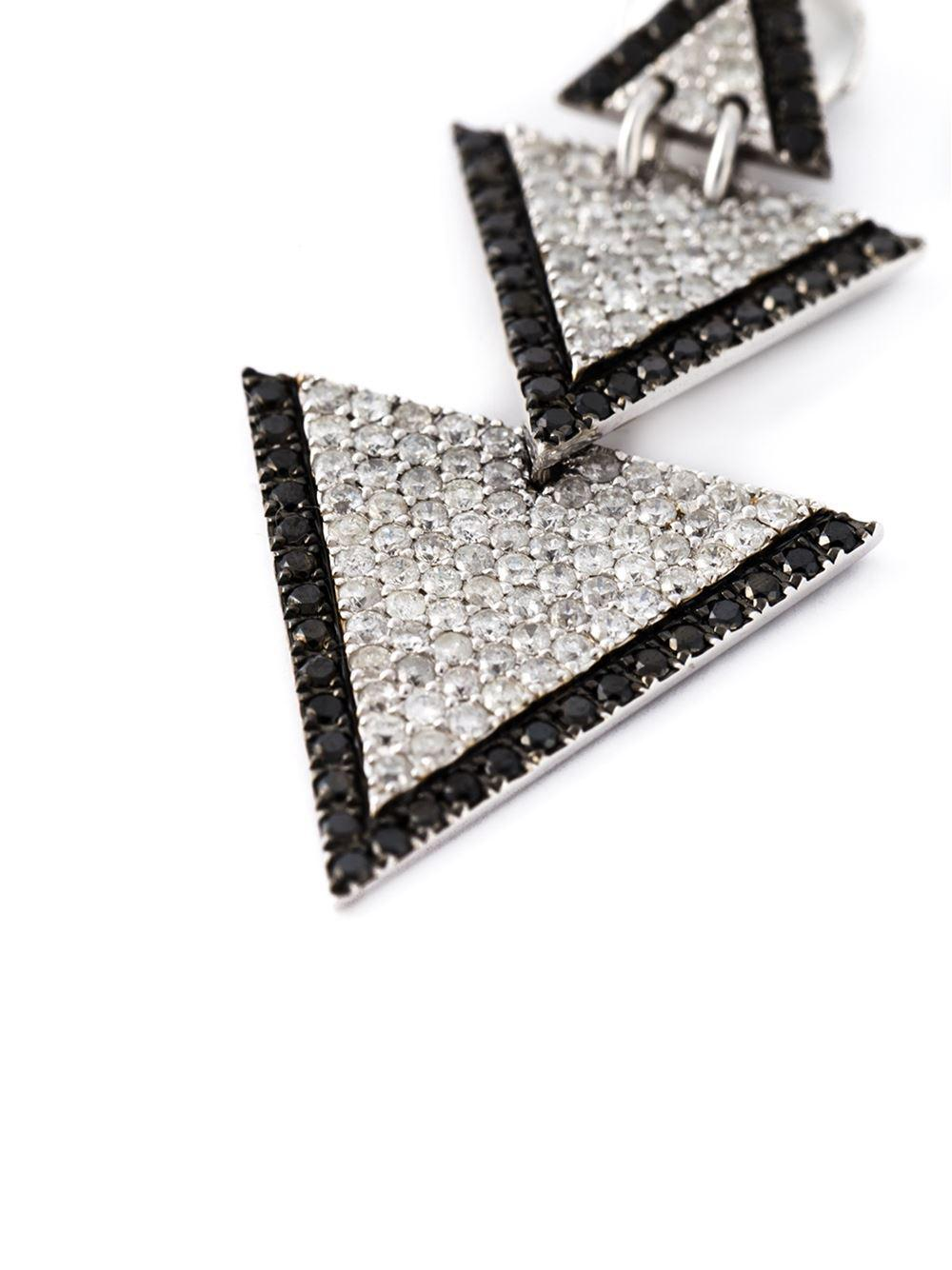 Elise Dray drop triangle diamond earrings With Paypal Free Shipping Hot Sale Cheap Price Shopping Authentic Online Explore NGW17dkE4I